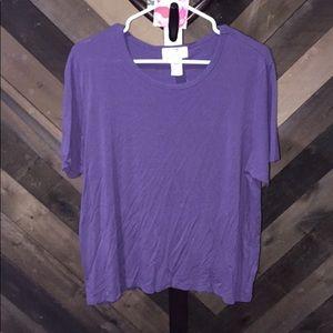 Jennifer Moore purple short sleeve tee